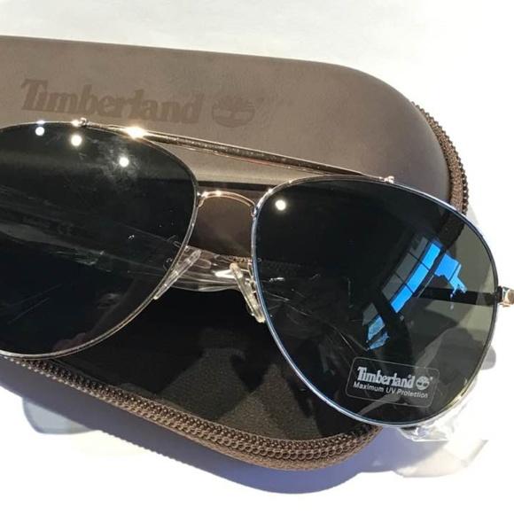 96ff80c3bdb NWT Timberland Aviator Gold-Tone Sunglasses